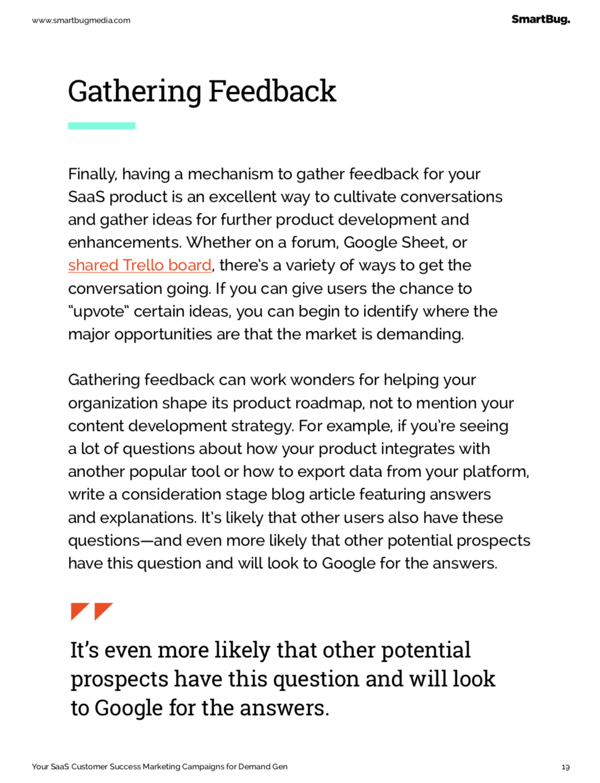 gathering feedback