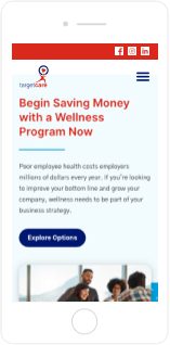 TargetCare Website Mobile View