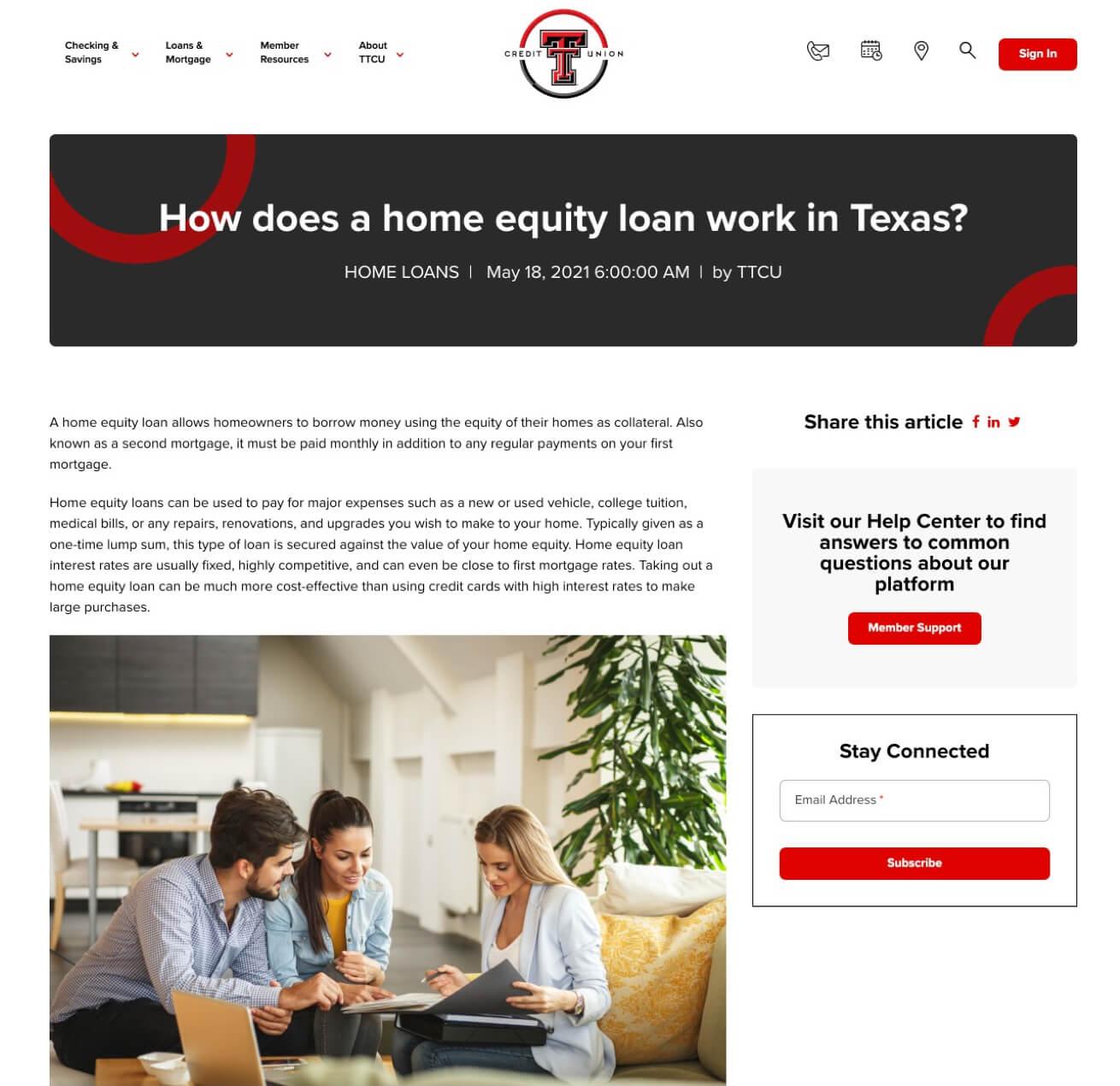 Texas Tech Credit Union Updated Blog