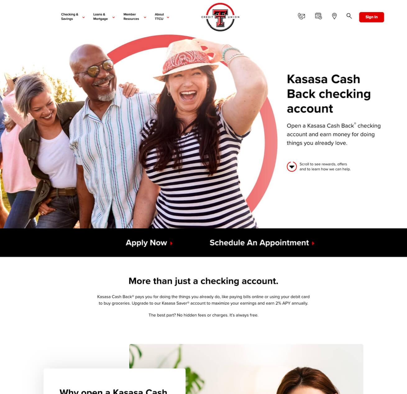 Customized Photos for Texas Tech Credit Union Website