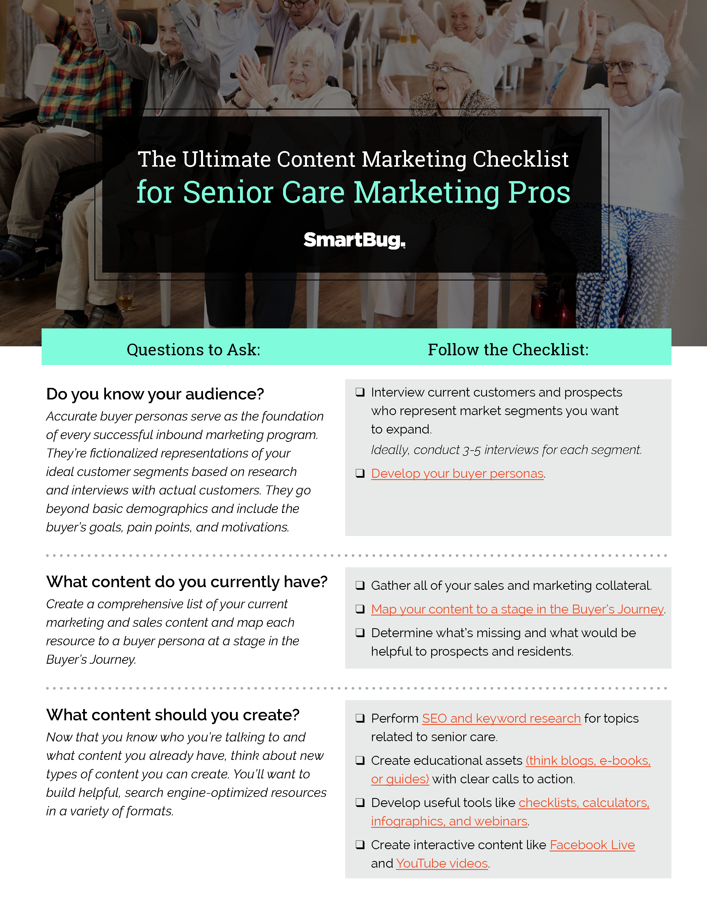 The Ultimate Content Marketing Checklist for Senior Care Marketing Pros