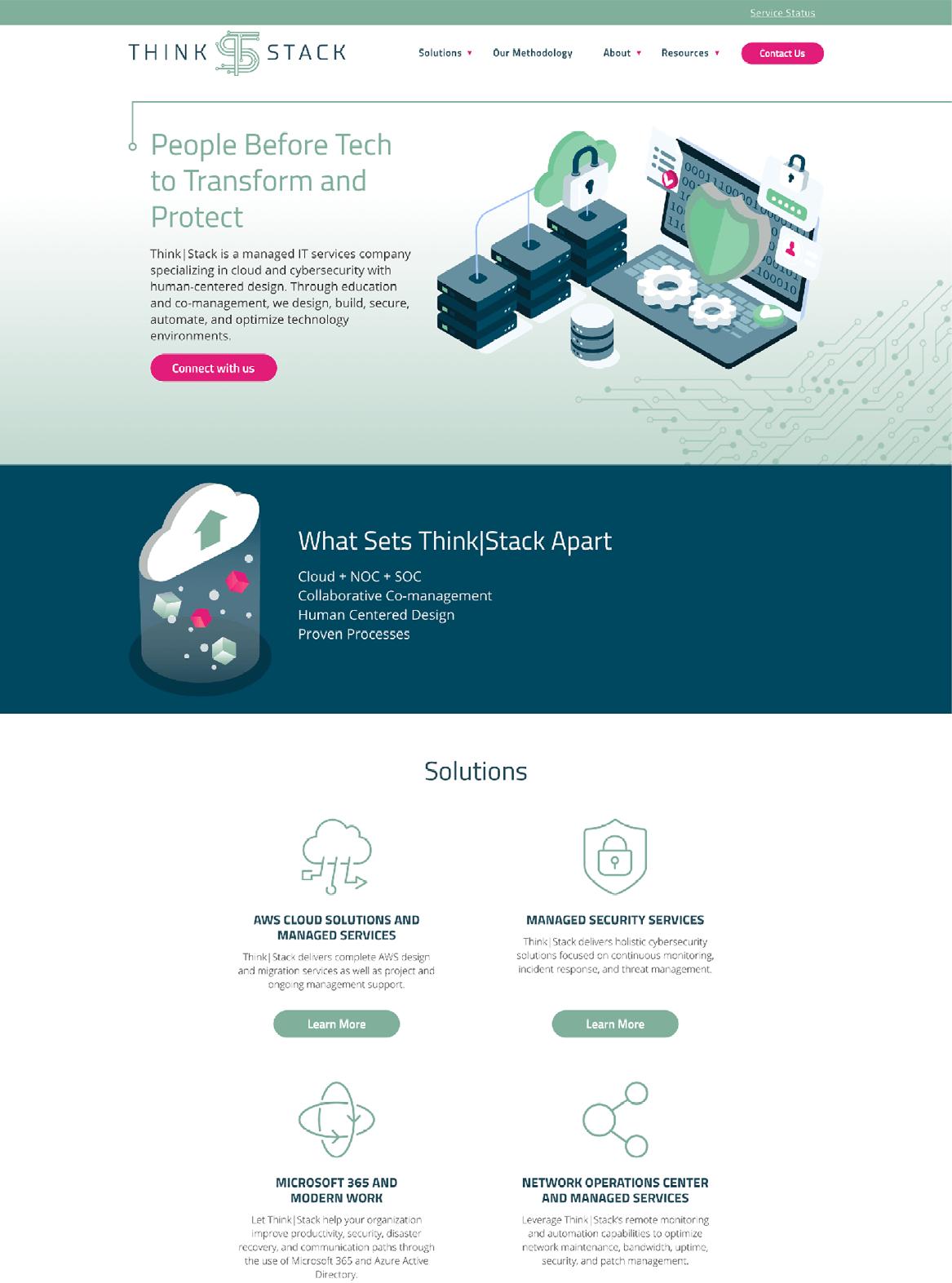 Think|Stack Website Desktop View