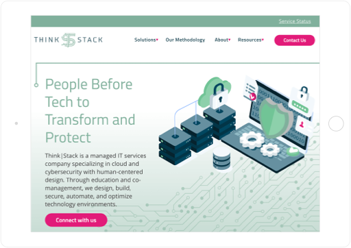 Think|Stack Website Tablet View