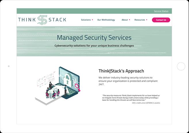 ThinkStack's Intuitive Website Design
