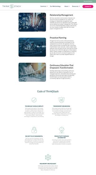 ThinkStack's Impactful Website Copy