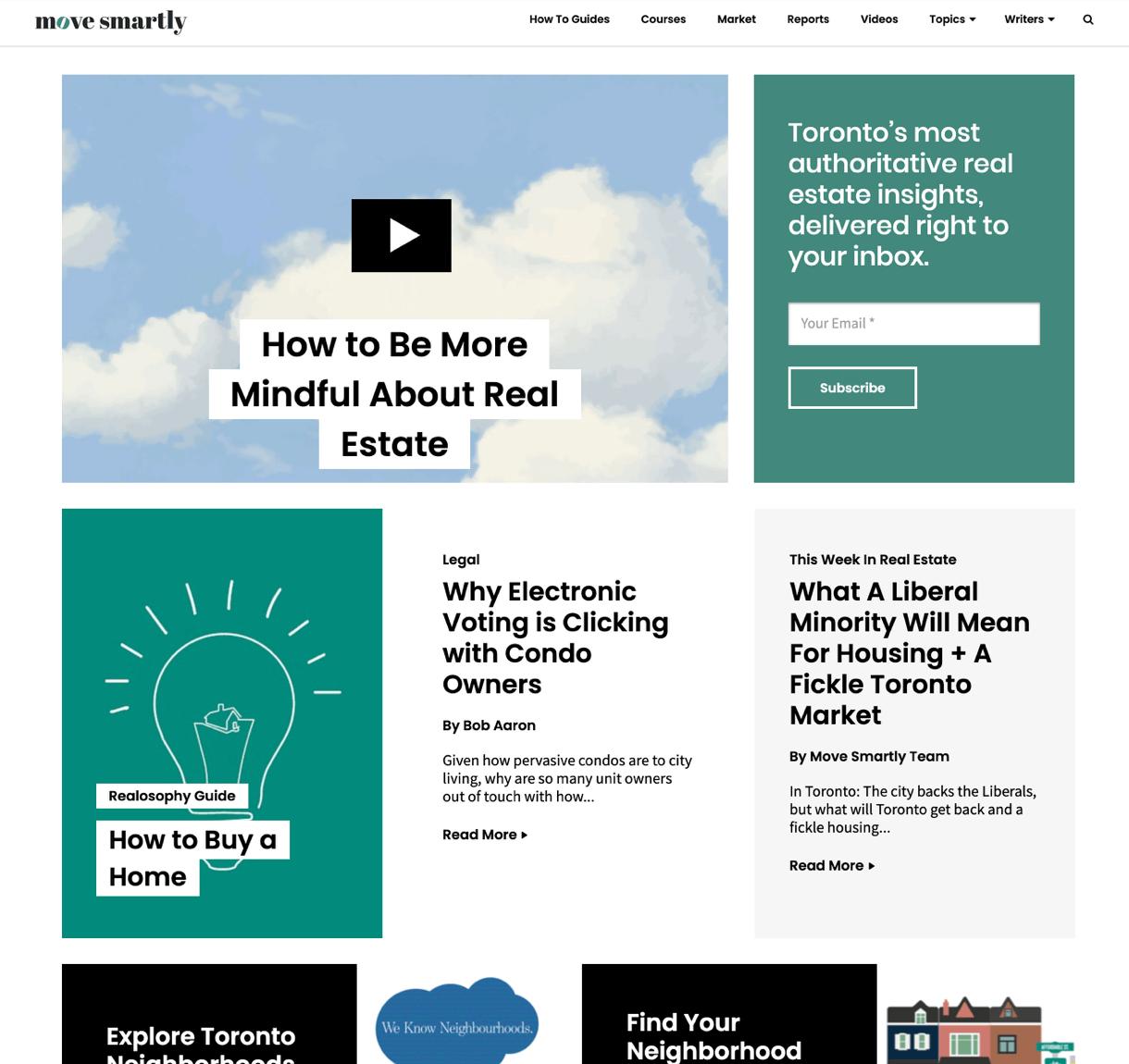 MoveSmartly homepage on desktop