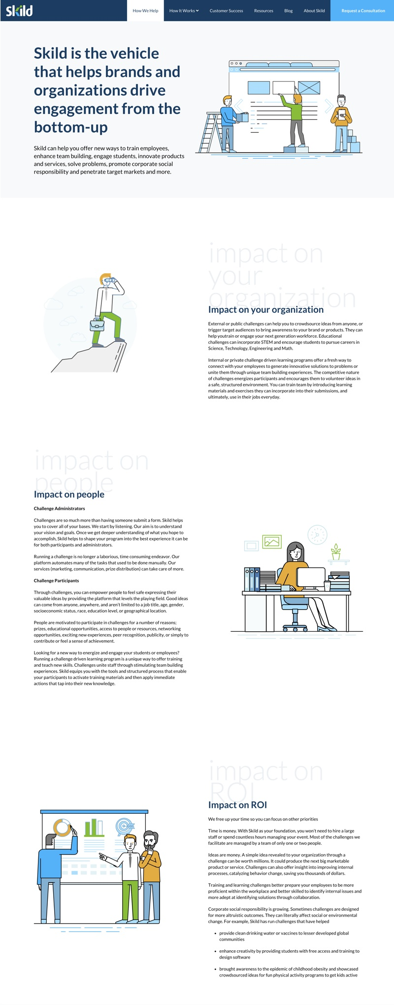 Skild web design ux