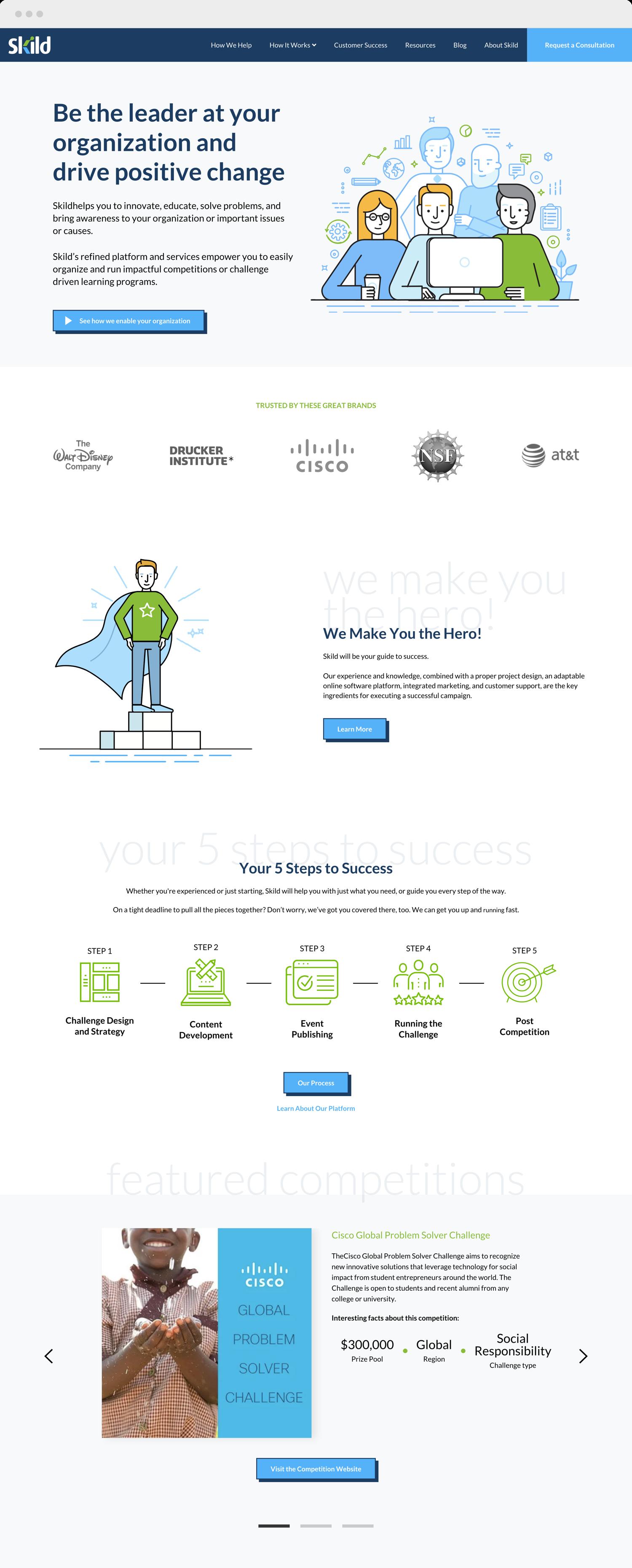 Skild home page website design