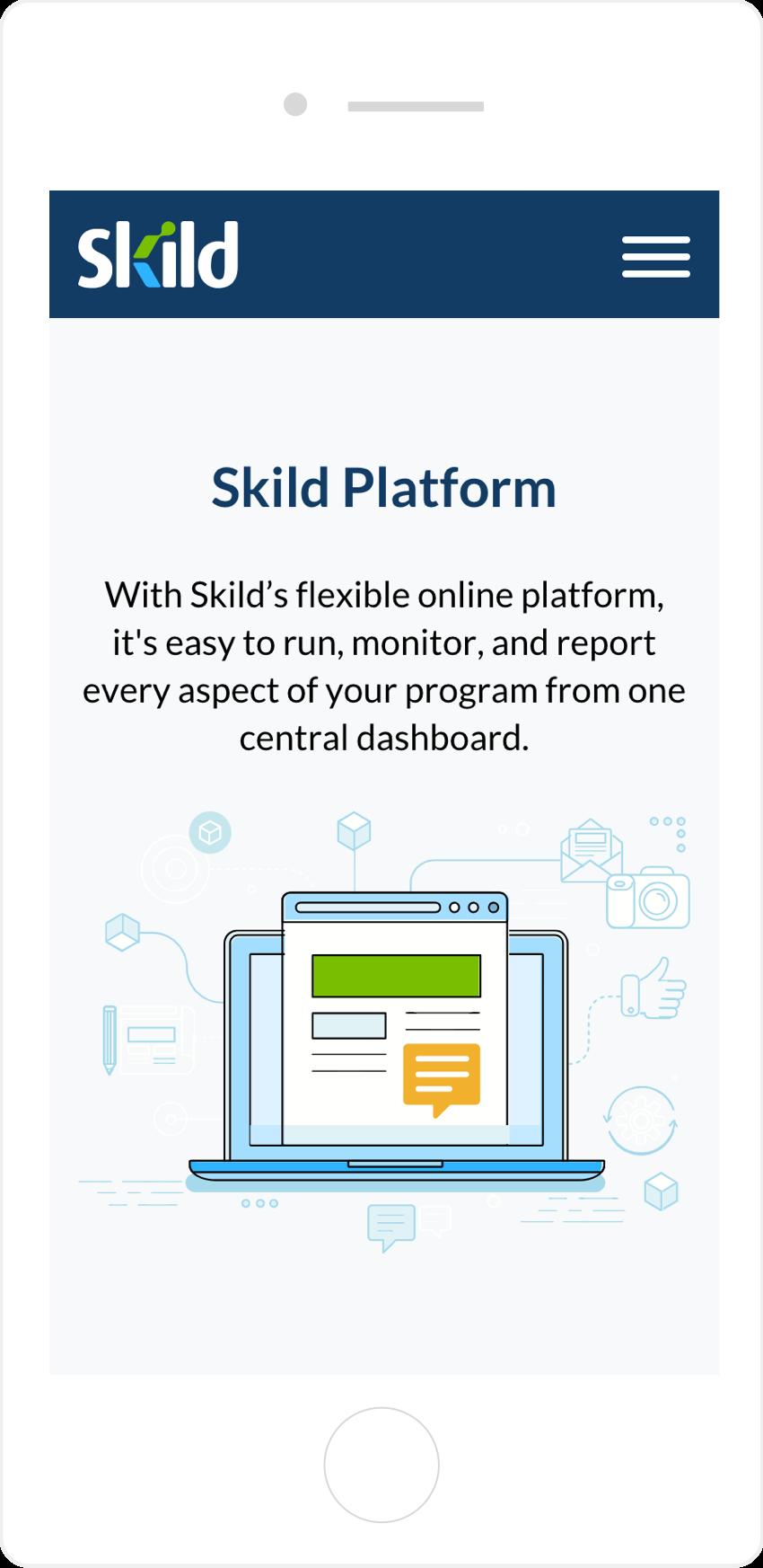 Skild mobile web design