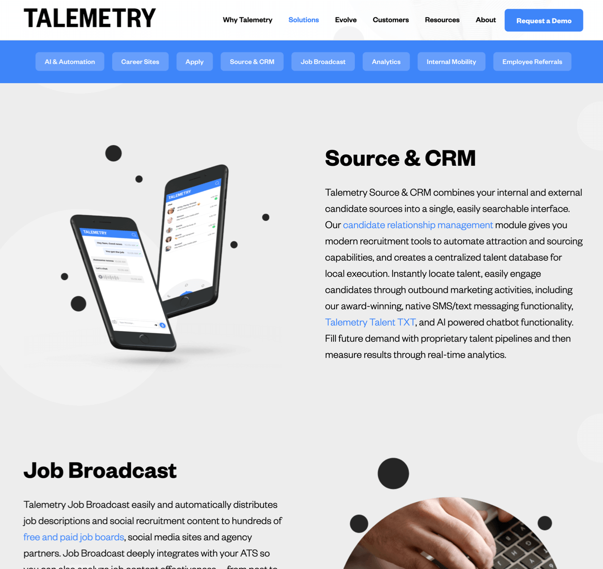 Talemetry website narrative