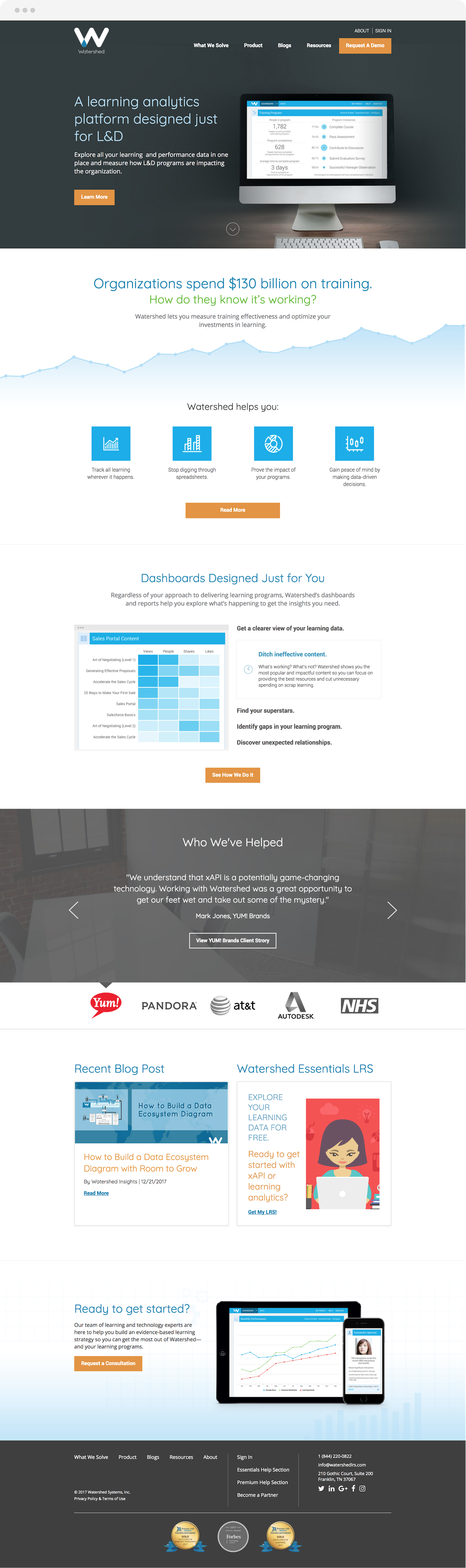 Watershed website design