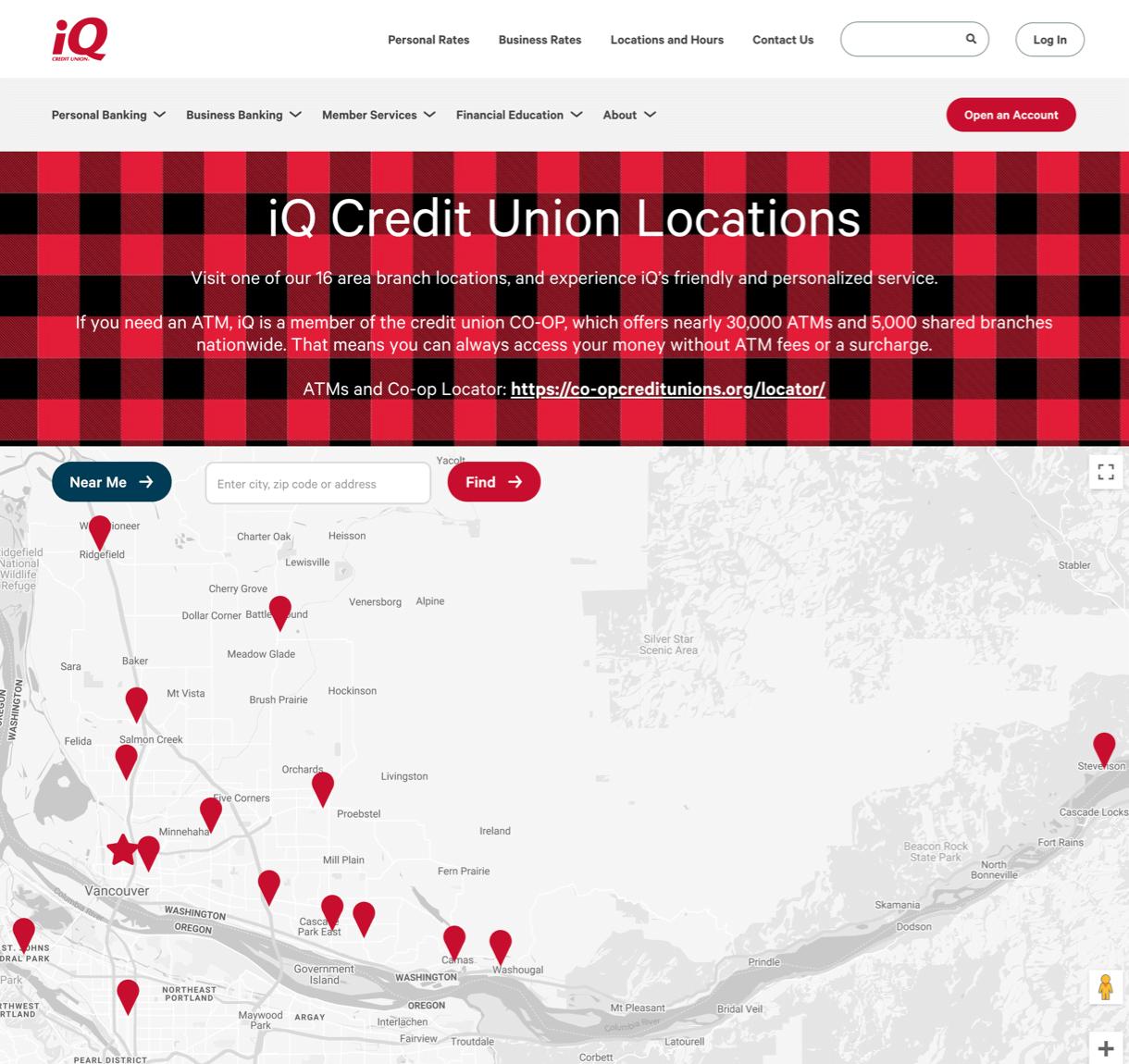 iQ Credit Union desktop