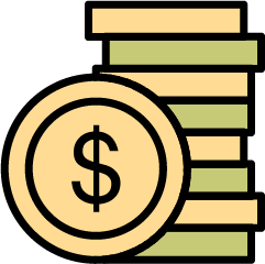 Stack of money showing ROI
